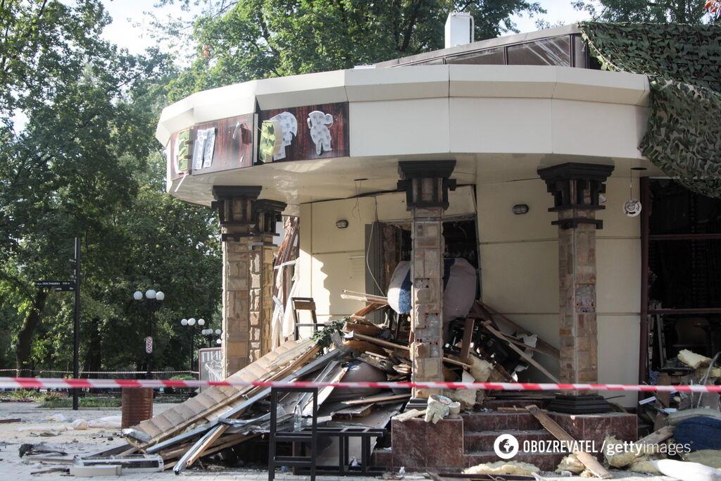 """Кафе """"Сепар"""" у Донецьку, де вбили Захарченка"""
