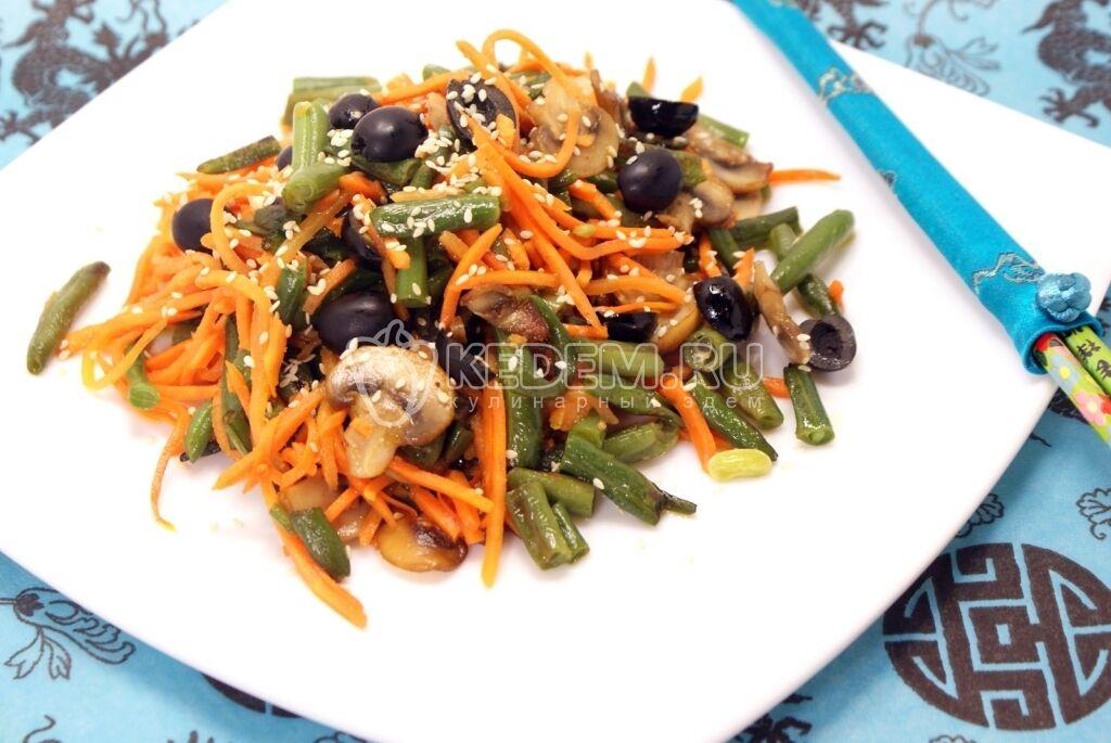 Салат с корейской морковкой