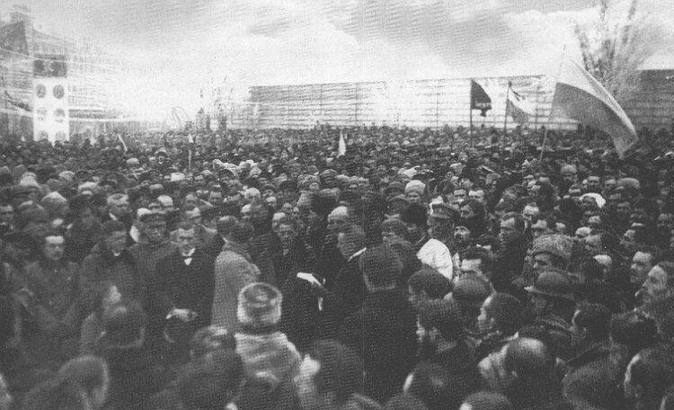 Урочисте проголошення Акта Злуки УНР і ЗУНР на Софійській площі у Києві. 22 січня 1919 року