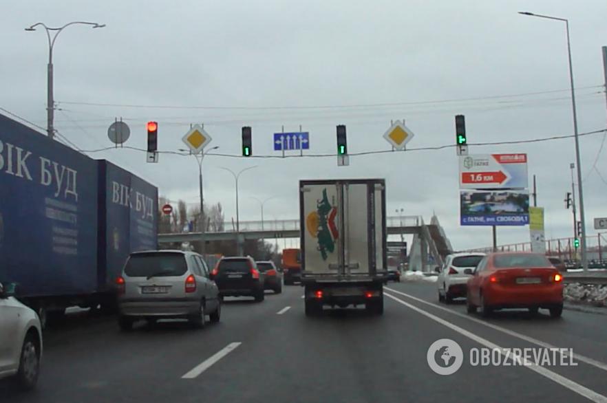Скандально известный светофор на Одесской трассе
