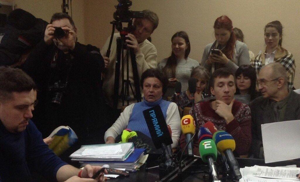 Елена Фидирко на суде