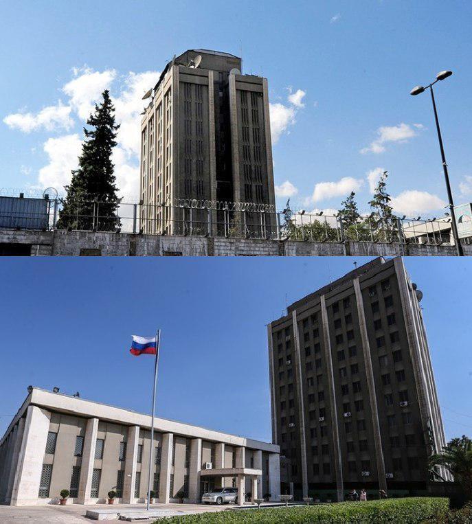 Здание посольства России в Сирии