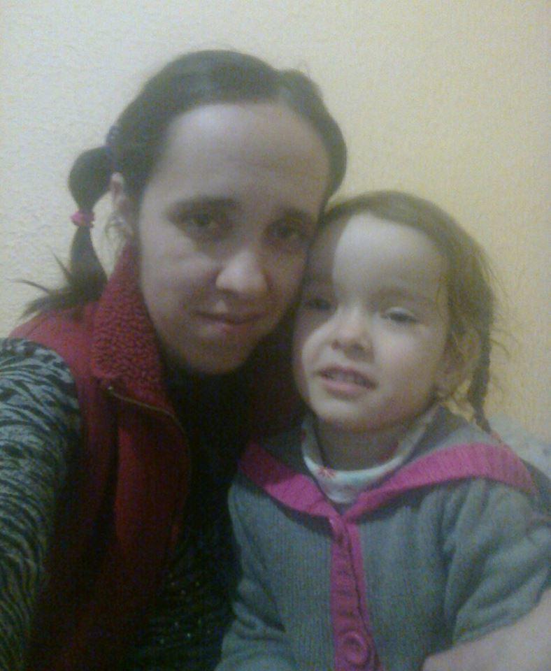 Елена с 8-летней Аней