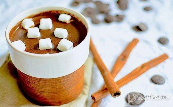 Гарячий шоколад з медом і корицею