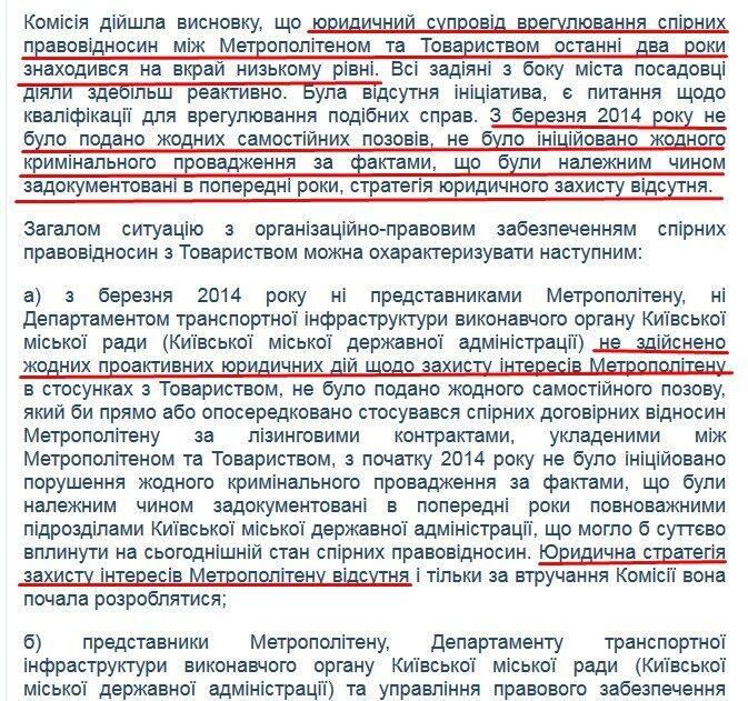 Официальный ответ журналистам OBOZREVATEL Киевского метрополитена от 10.12.2018 года