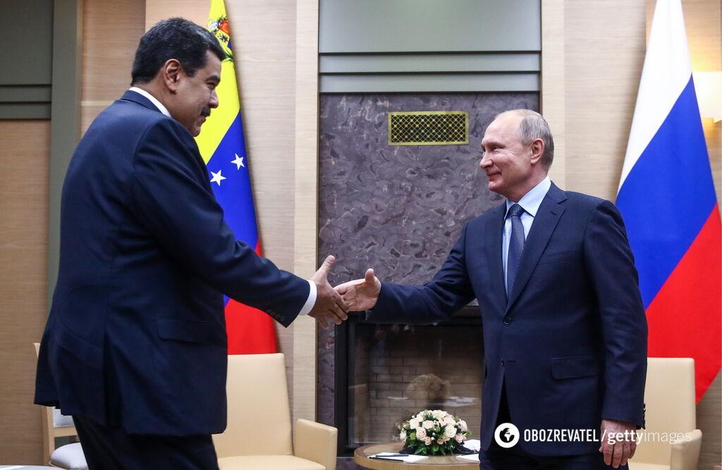 Президент Венесуели Ніколас Мадуро і лідер Росії Володимир Путін