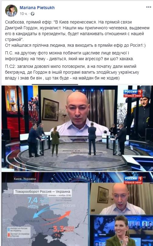''Палится по полной!'' Гордон разгневал украинцев появлением на КремльТВ