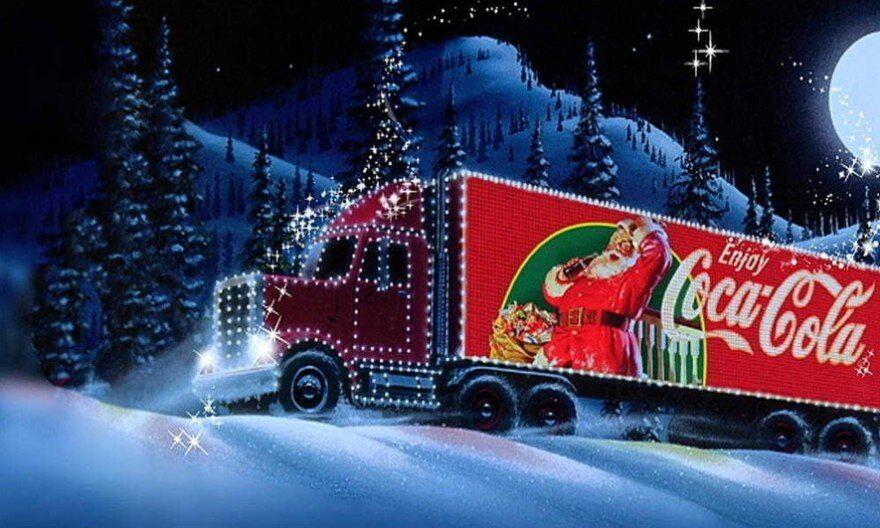 Новорічний вантажівка Coca-Cola