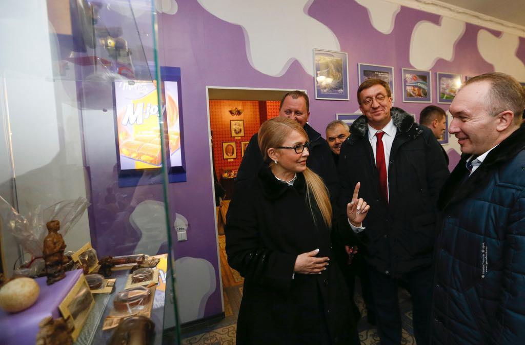 Юлія Тимошенко в музеї шоколаду