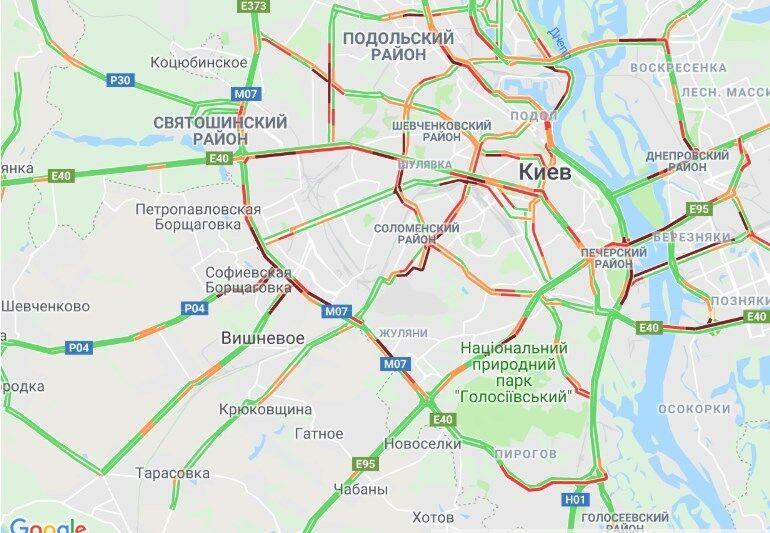 Затори у Києві