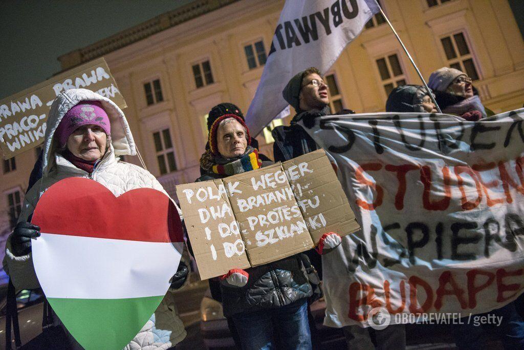 Венгрию охватили протесты против нападавшей на Украину власти