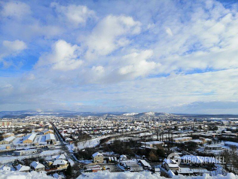 Зимове Мукачево з висоти: яскраві фото