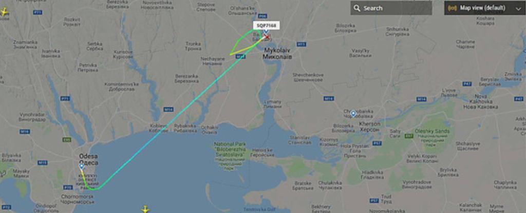 В аэропорту Николаева произошло ЧП