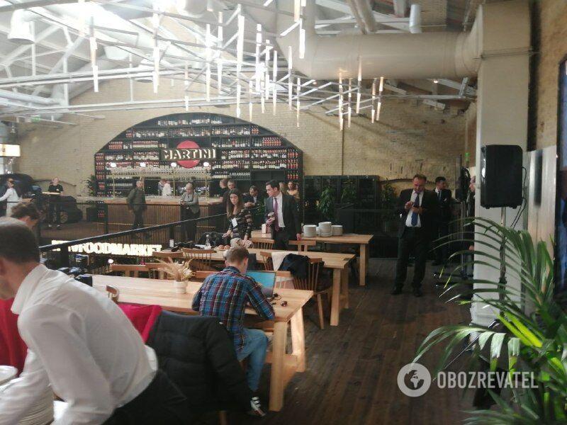 Пресс-марафон Зеленского проходит на территории Kyiv Food Market