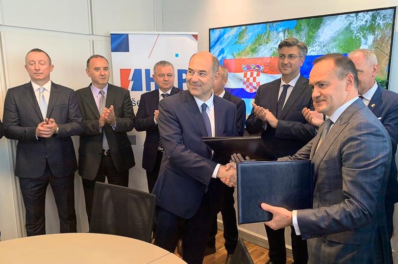 Подписание меморандума с Хорватией