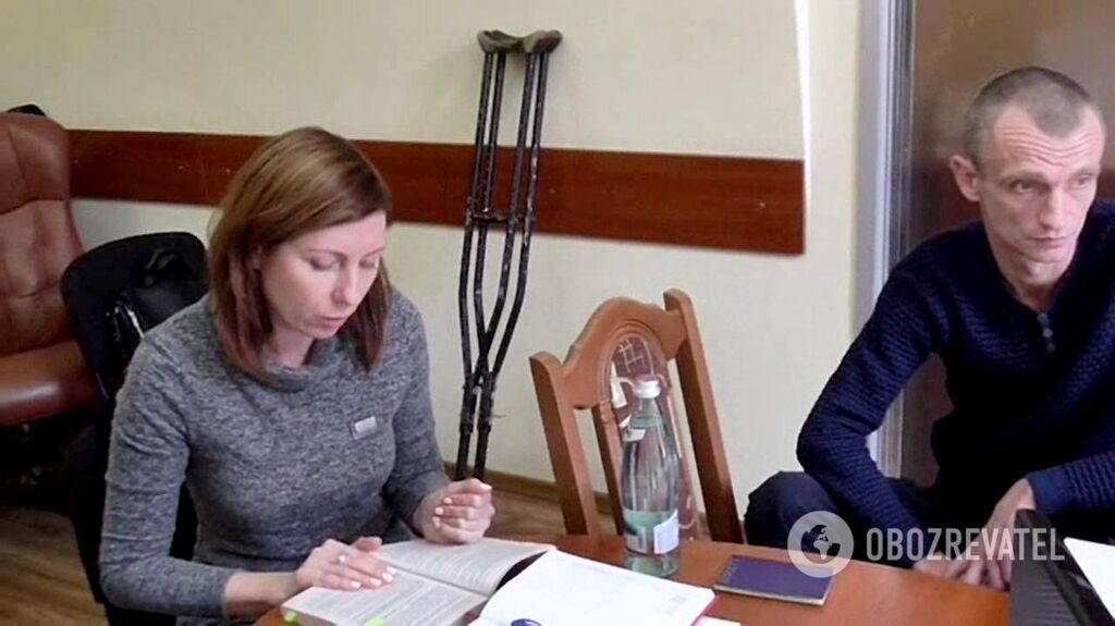 Адвокат Марина Парінова і В'ячеслав Хімікус