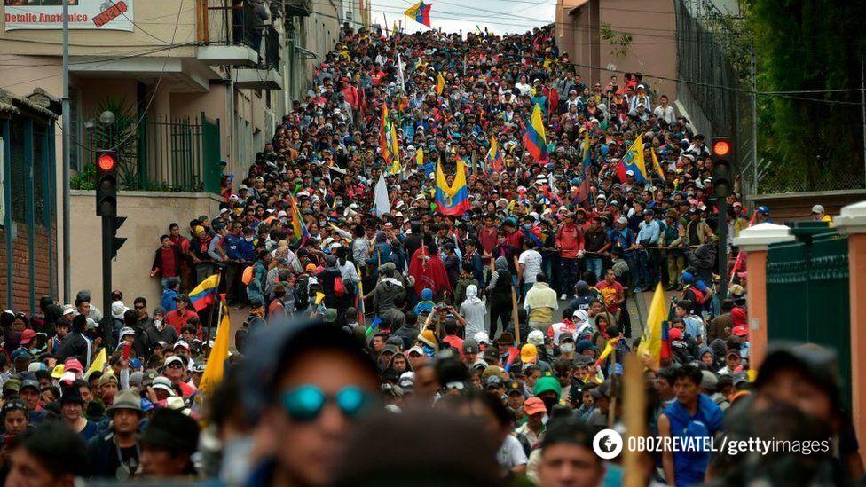 Протесты в Еквадоре