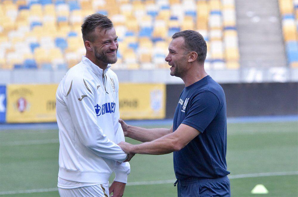 Андрей Шевченко (справа) и Андрей Ярмоленко