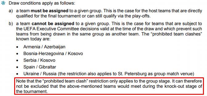 УЕФА изменил решение по матчам Украины и России