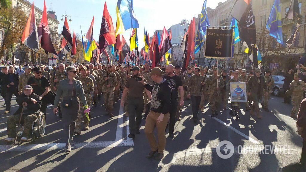 Появились эксклюзивные фото и видео с Марша защитников в Киеве