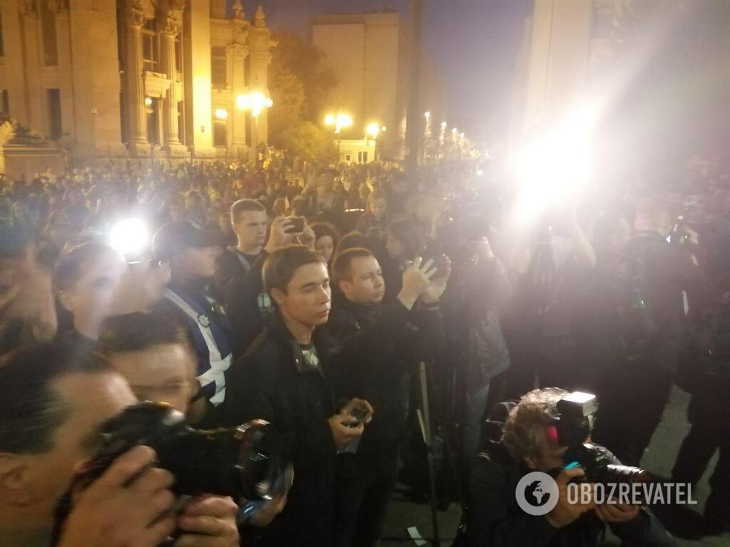 Павло Гриб прийшов на протест