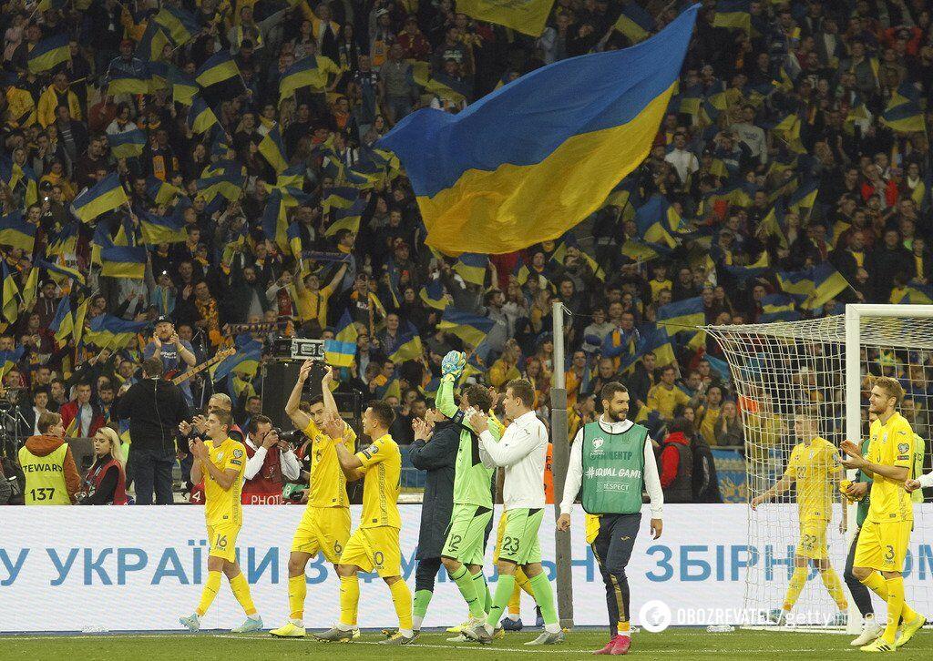 Сборная Украины выиграла группу, добыв 6 побед кряду