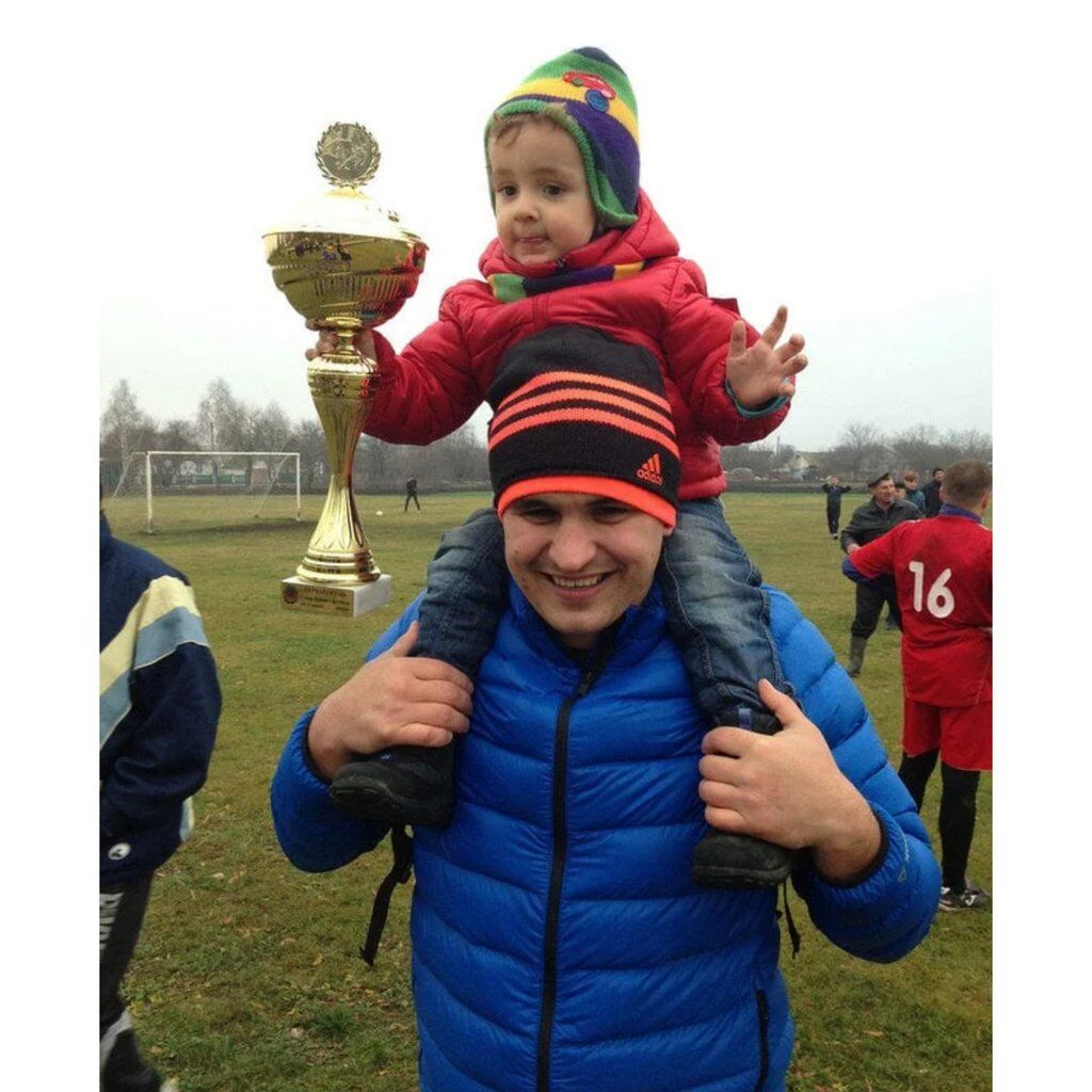 Сергей Цымбал с сыном