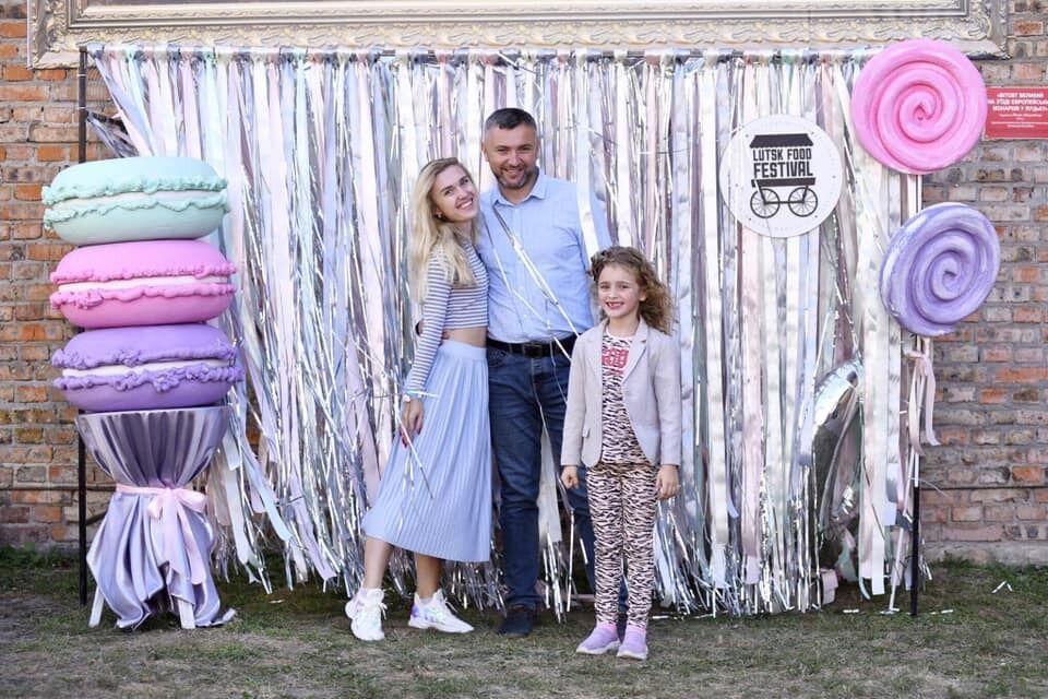 Олексій Веремійчик із дружиною і донькою
