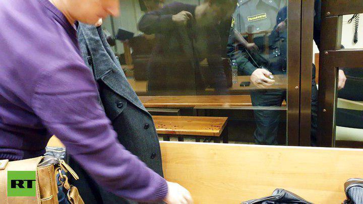 Фото из зала суда после ЧП