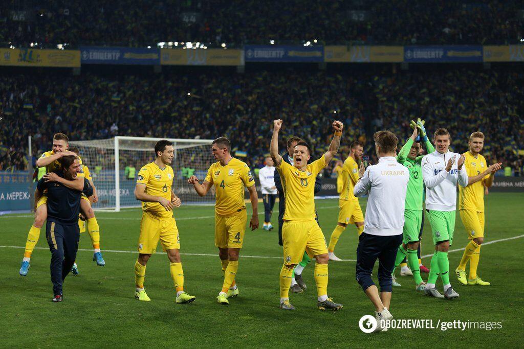 Сборная Украины после победы над Португалией третий раз кряду вышла на чемпионат Европы