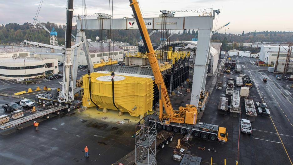Процес будівництва хвильової турбіни Ocean Energy