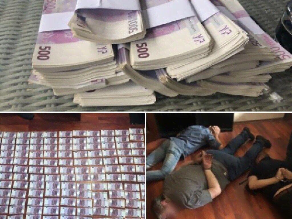 Силовики в столице задержали группу с поддельными евро
