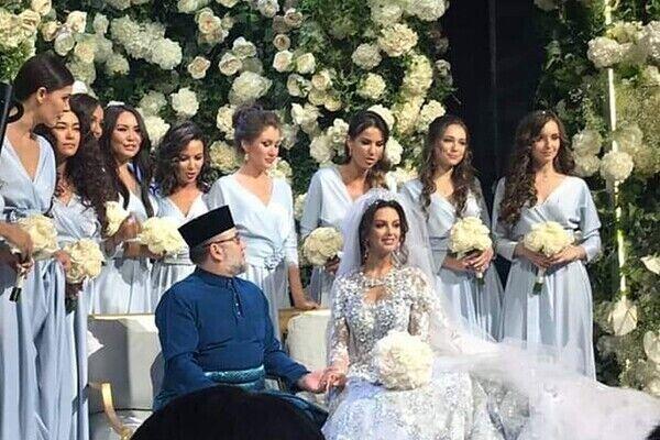 Пышная свадьба Воеводиной и Мухаммада V