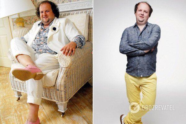 Віктор Бронюк до і після схуднення