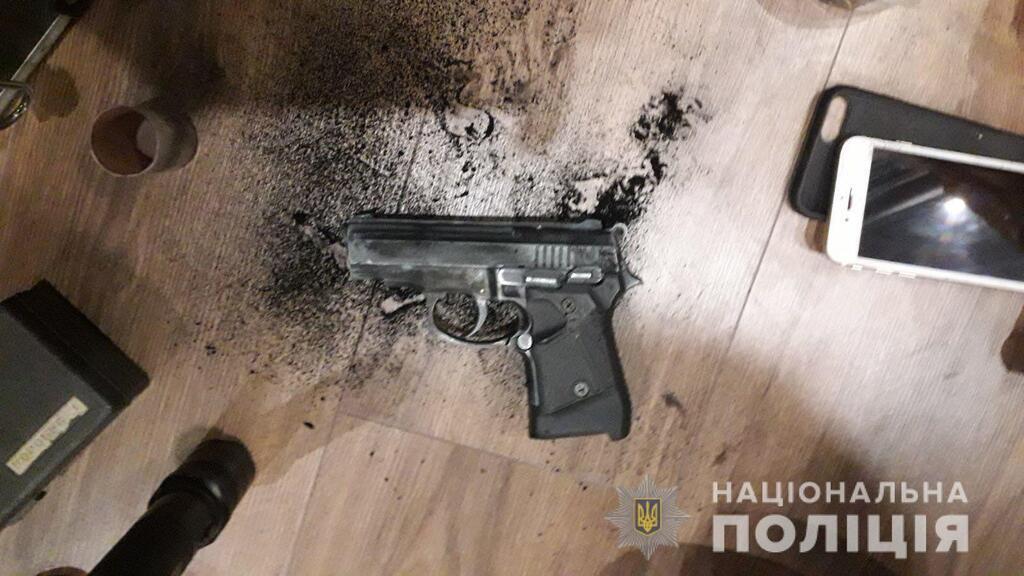 У задержанных нашли оружие