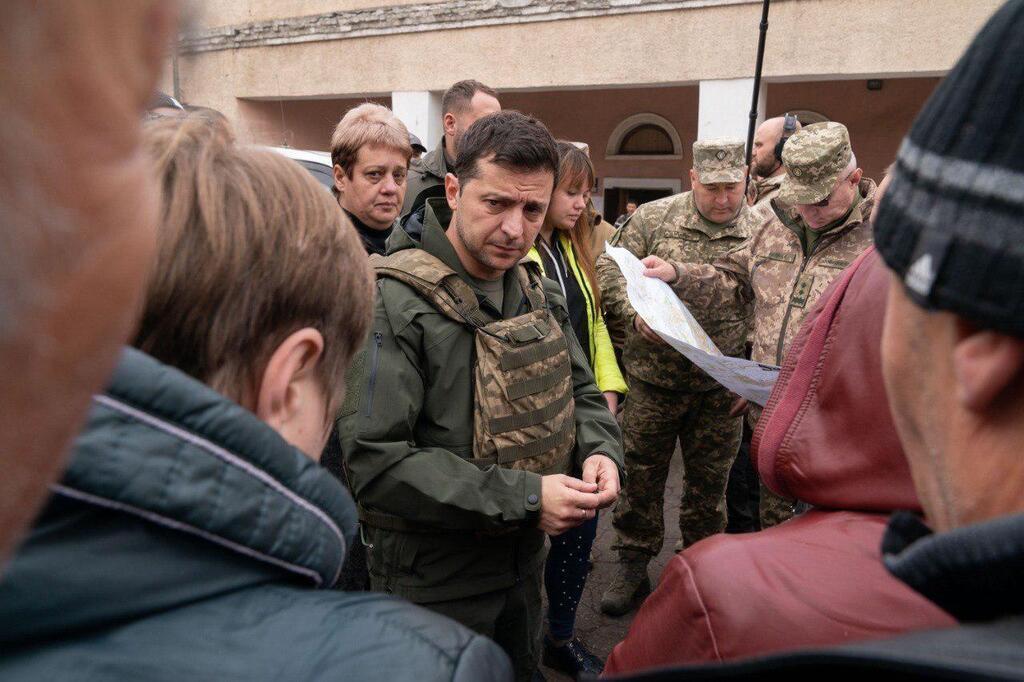 Володимир Зеленський відвідав Золоте