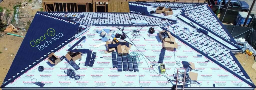 Процесс установки Solarglass Roof
