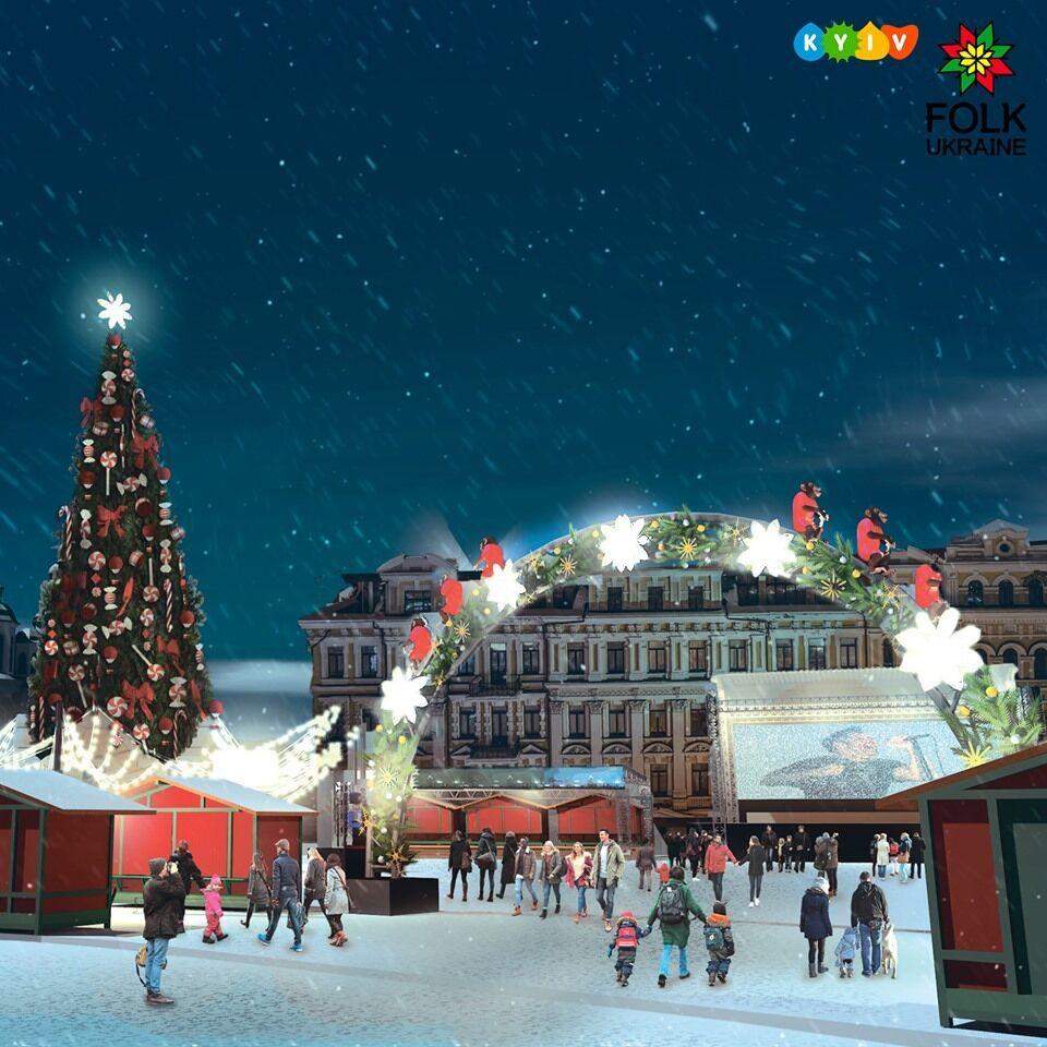 Новый год на Софийской площади