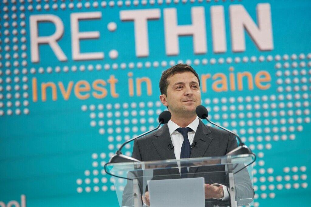 Зеленский выступил на инвестиционном форуме RE:THINK в Мариуполе