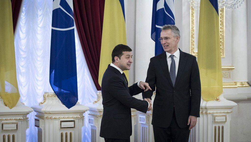 Йенс Столтенберг и Владимир Зеленский