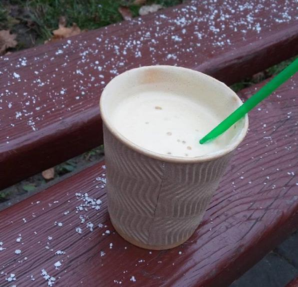 В Киеве в четверг, 31 октября, выпал снег