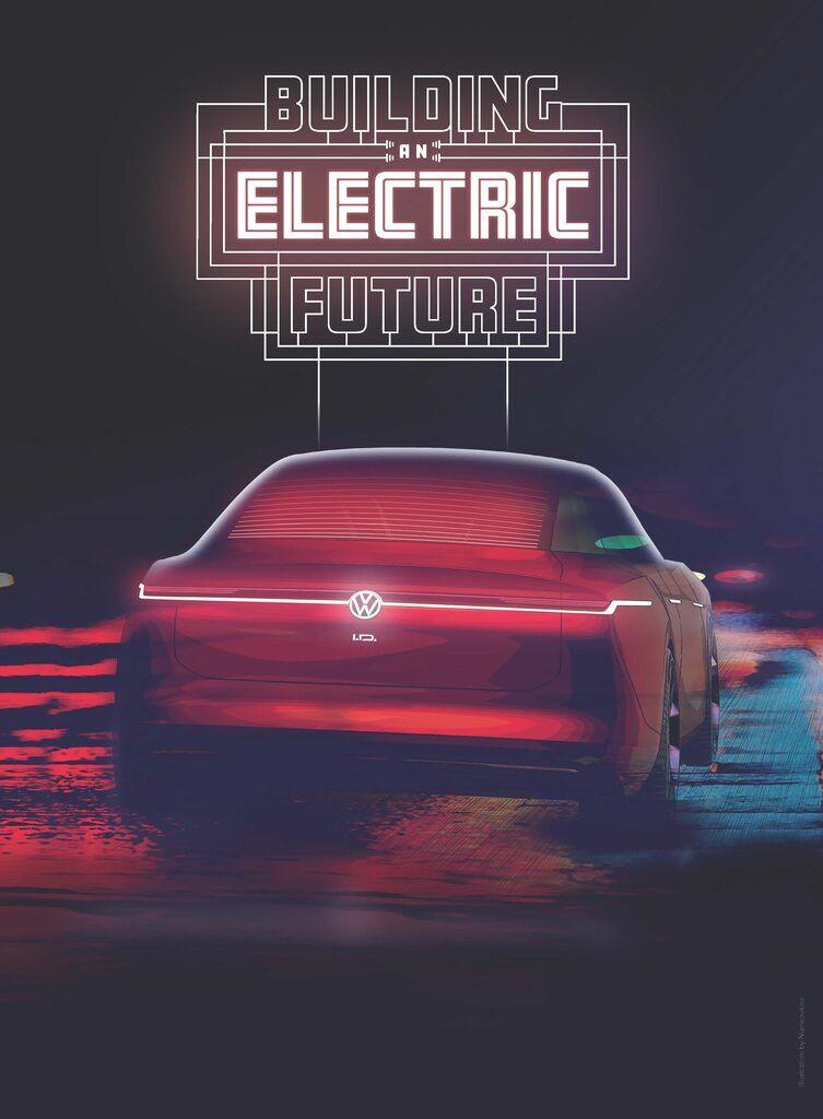 Тизер нового електрокара Volkswagen