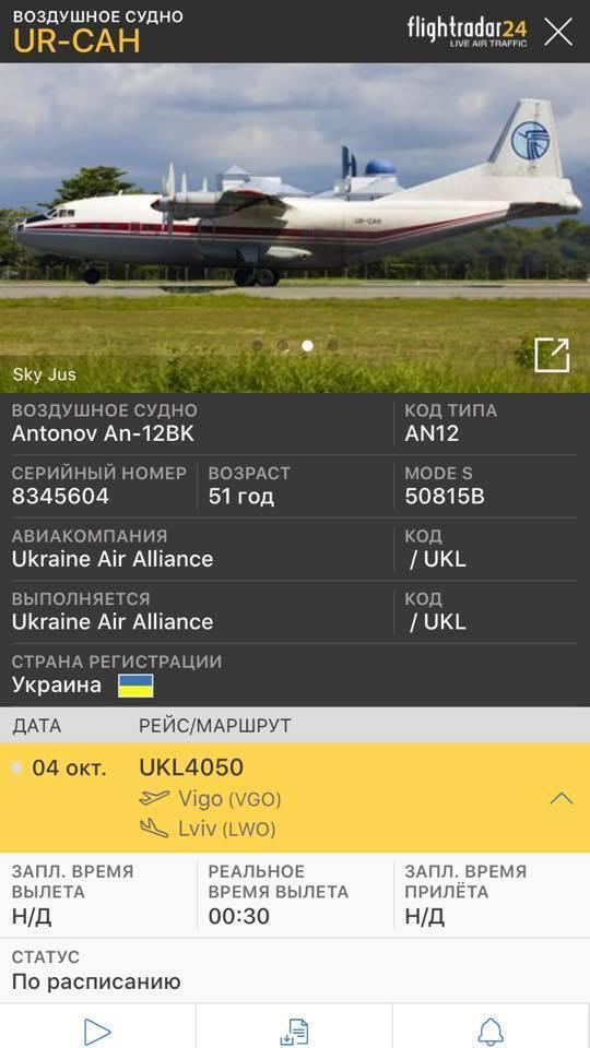 Інформація про літак