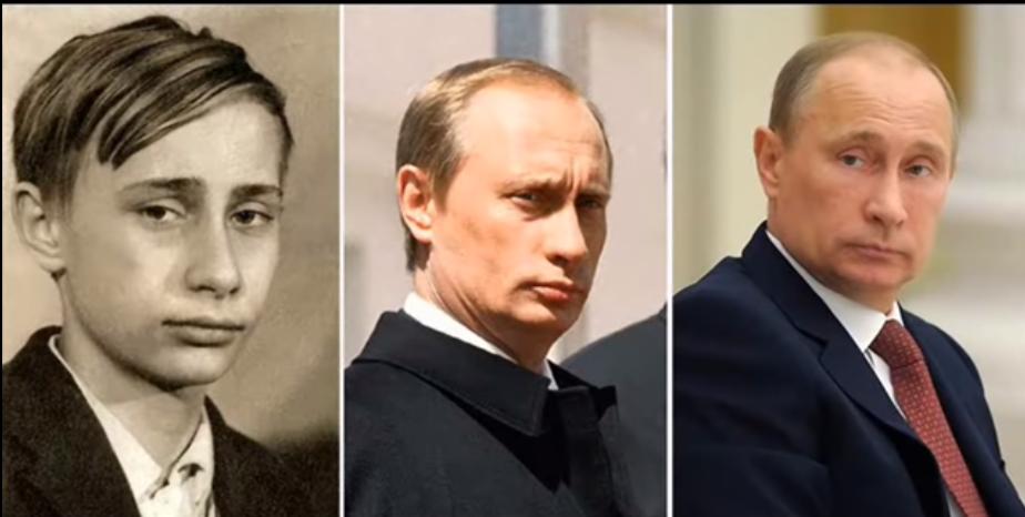 Путін замолоду й зараз