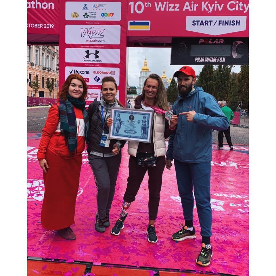 Тетяна Воротиліна після участі к Wizz Air Kyiv City Marathon