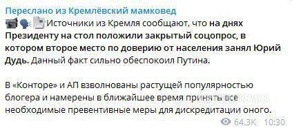 """""""Дудь – це російський Зеленський"""": чи може журналіст-ютубер стати президентом РФ"""
