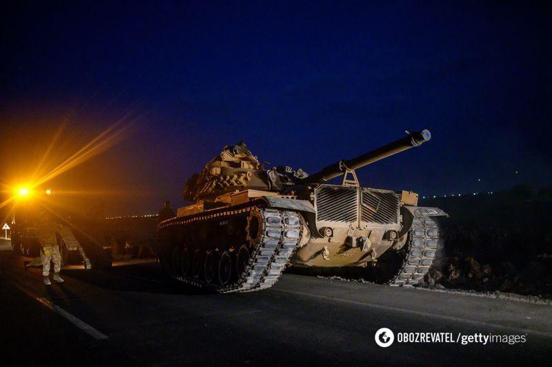 Турецкие войска на границе Сирии