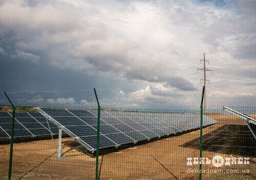 Солнечные панели на участке станции