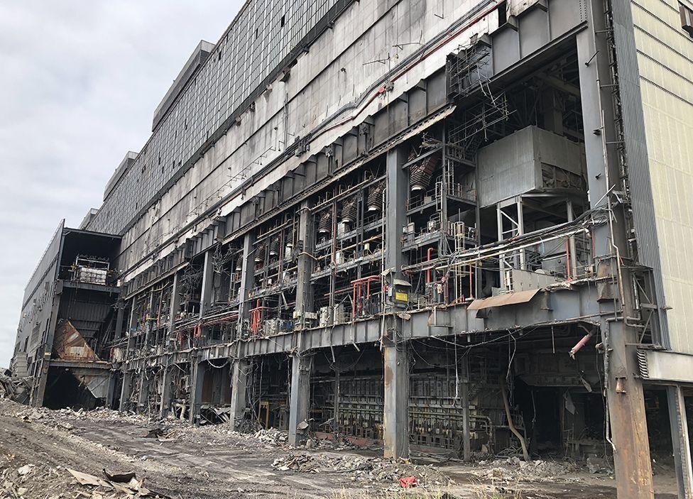 Процесс демонтажа станции Longannet
