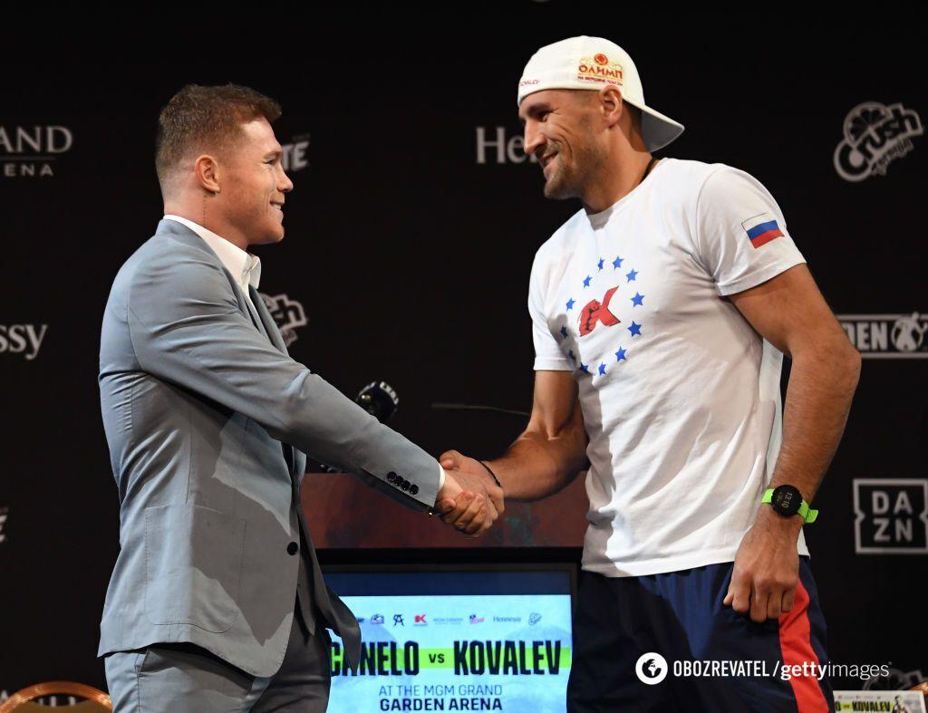 Сауль Альварес и Сергей Ковалев